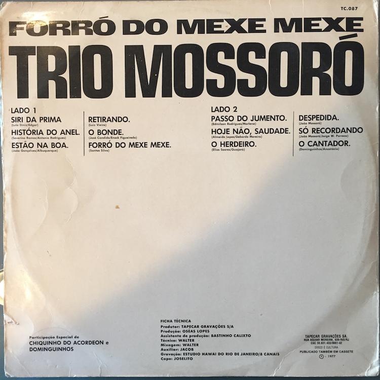 Full trio mossoro forro back