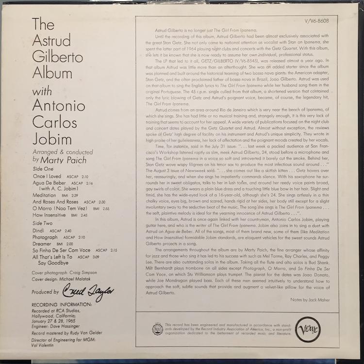 Full astrud gilberto album back