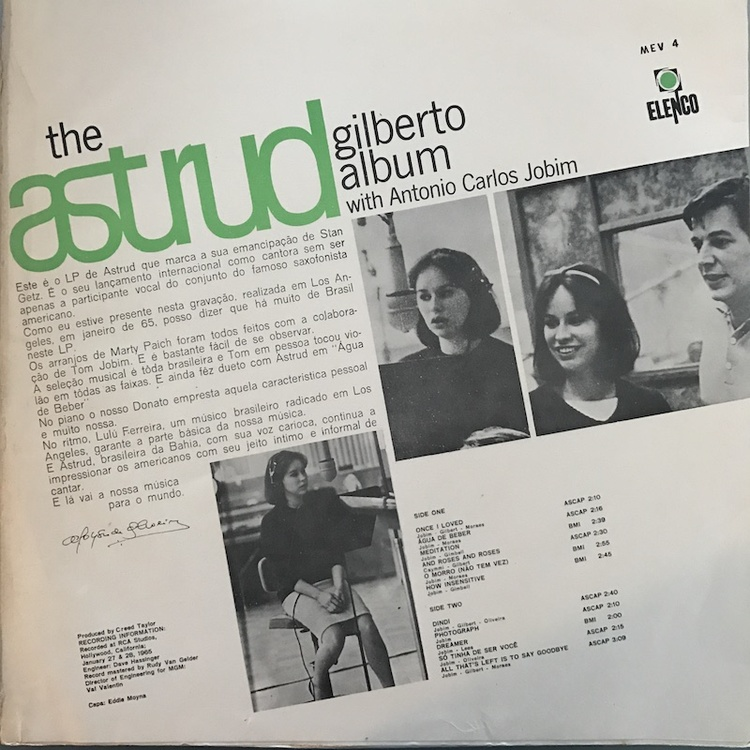 Full astrud gilberto album br back