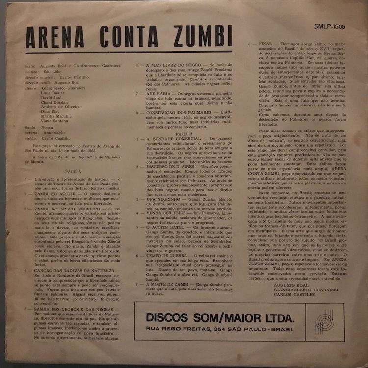 Full arena conta zumbi back