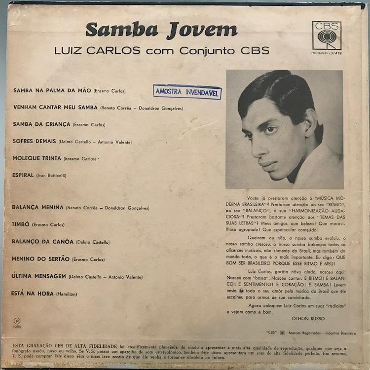 Full luiz carlos samba jovem back