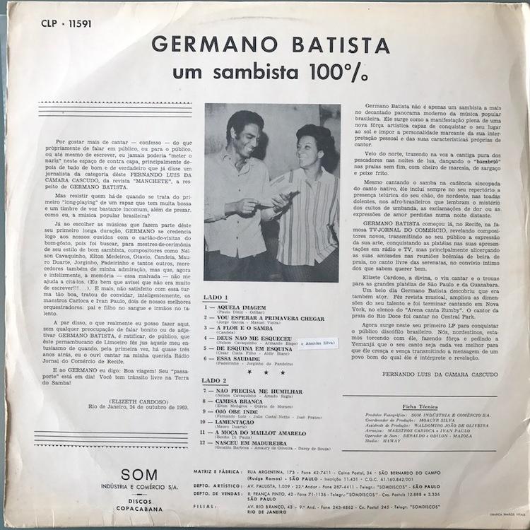 Full germano batista sambista back