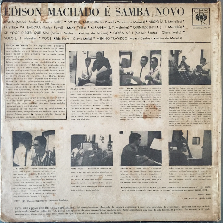 Full edison machado samba back