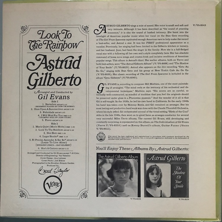 Full astrud gilberto rainbow back