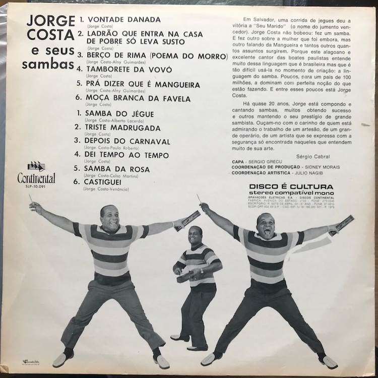 Full jorge costa sambas back