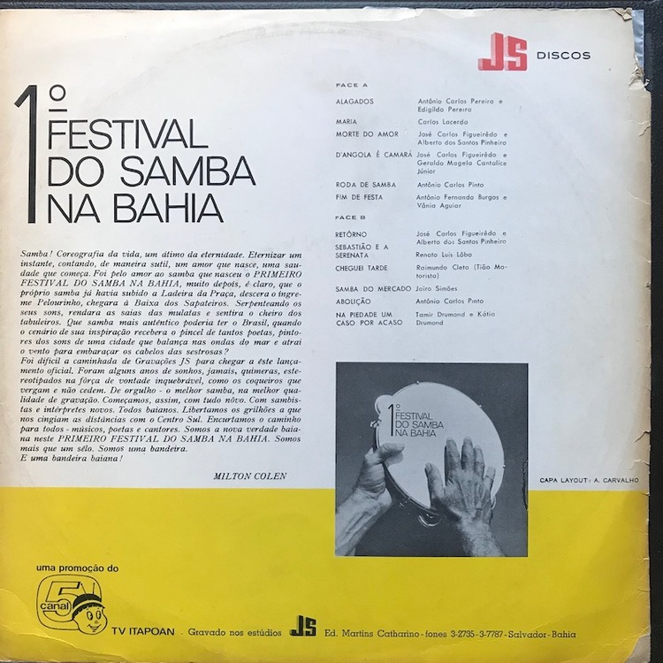 Full festival samba bahia back